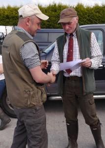 Stuart receiving a COM from Steve Burns
