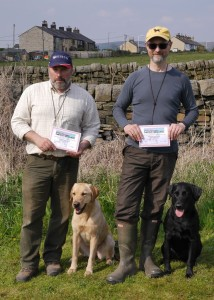Winners Mick Kay (Puppy) and Ralph Kleeli (Novice)